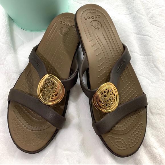 4abbd331f24 CROCS Shoes - Crocs Sanrah Fancy Embellished Slide Sandal 8